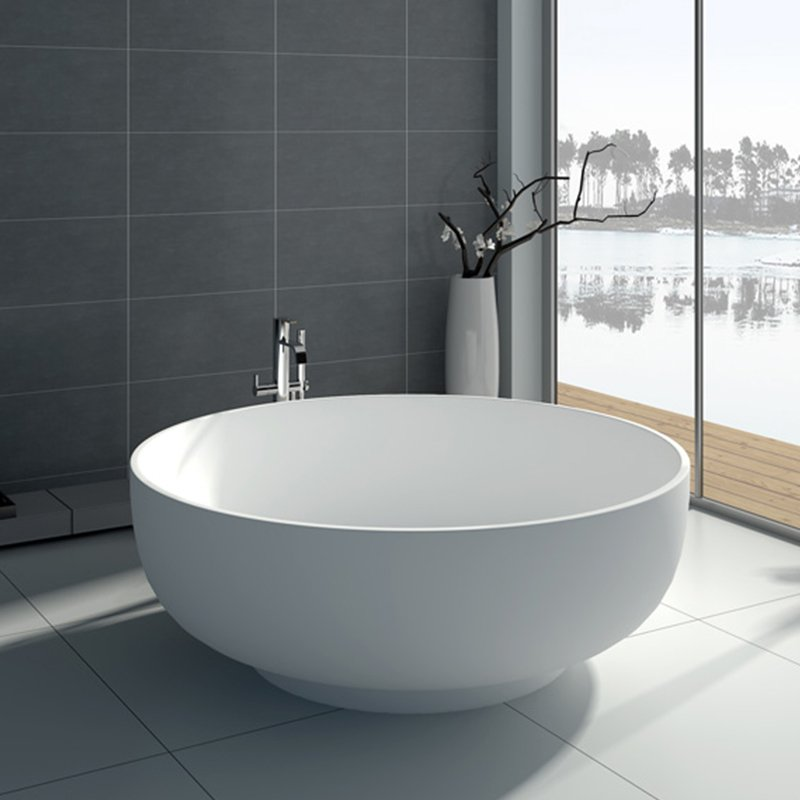 oval free garden x white soaking home bathtub mandalay product inch