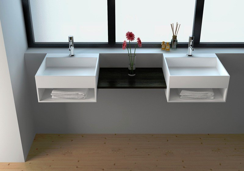 Solid Surface Wall-hung Wash Basin JZ1005