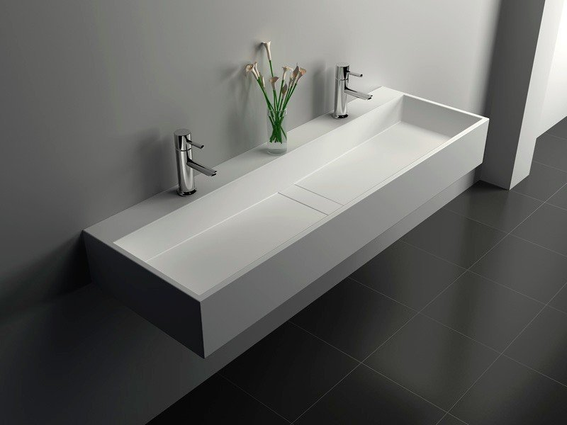 Solid Surface Seamless Bathroom Sink JZ1024