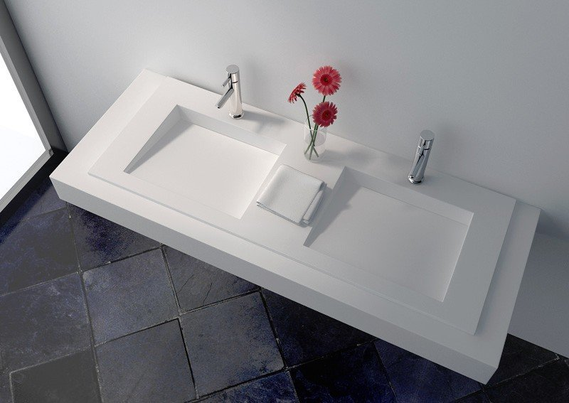 Solid Surface Wall-hung Seamless Basin JZ1035