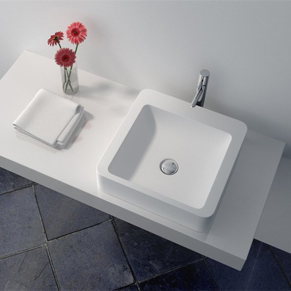 Cast Stone Solid Surface Bathroom Countertop Sink JZ9011