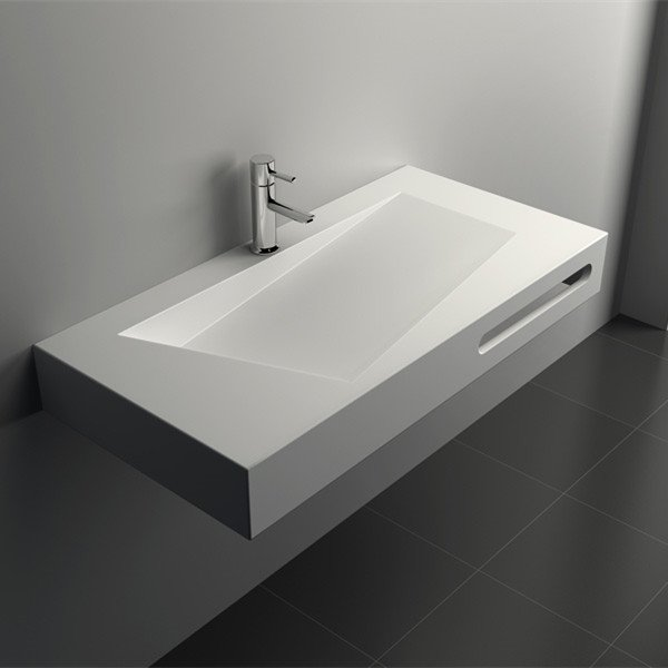 Solid Surface Wall Mount Seamless Basin JZ10 Series