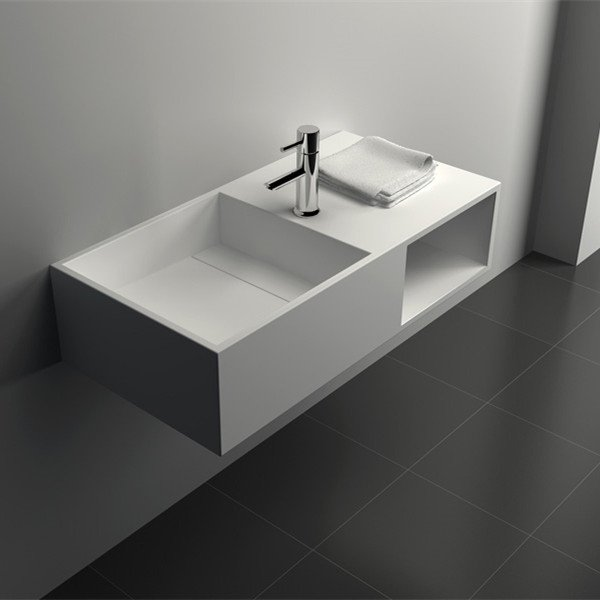 Solid Surface Seamless Bathroom Basin JZ1004